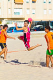 Fósforo da 19a liga do handball da praia, Cadiz Imagem de Stock Royalty Free