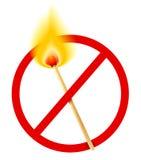 Fósforo da queimadura ilustração do vetor