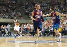 Fósforo de basquetebol Barcelona contra Dallas Foto de Stock Royalty Free