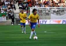 Fósforo de futebol amigável Brasil contra Argélia Fotografia de Stock Royalty Free