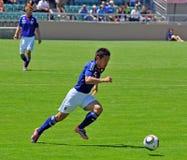 Fósforo de futebol da Costa do Marfim e do Japão Imagens de Stock Royalty Free