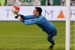 Fósforo de futebol da liga do banco de Ferencvaros - de Paks OTP Imagem de Stock Royalty Free
