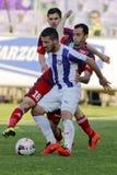 Fósforo de futebol da liga do banco de Ujpest - de Videoton OTP Fotos de Stock