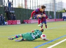 Fósforo de futebol das mulheres - FC Barcelona contra Levante Imagens de Stock Royalty Free