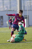 Fósforo de futebol das mulheres - FC Barcelona contra Levante Fotos de Stock Royalty Free