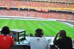 Fósforo de futebol de Malaysia e de Liverpool Imagem de Stock