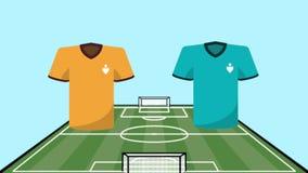 Fósforo de futebol dos uniformes contra a animação das equipes ilustração do vetor