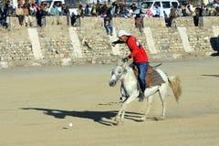 Fósforo do polo em Ladakh festifal Foto de Stock