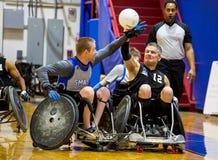 Fósforo do rugby da cadeira de rodas imagem de stock