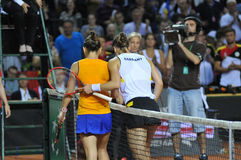 Fósforo do tênis das mulheres Fotografia de Stock Royalty Free