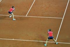 Fósforo dobro do tênis da mulher Imagens de Stock Royalty Free