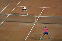 Fósforo dobro do tênis da mulher Imagem de Stock