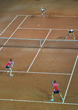 Fósforo dobro do tênis da mulher Foto de Stock Royalty Free