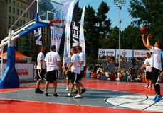 Fósforo dos riverbanks 24 competiam do basquetebol da hora Fotografia de Stock Royalty Free