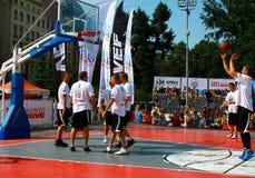 Fósforo dos riverbanks 24 competiam do basquetebol da hora Fotografia de Stock Royalty Free