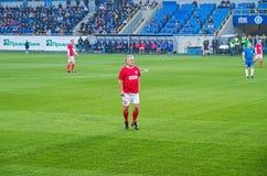 Fósforo dos veteranos da equipa nacional de FC Dnipro e de URSS Imagem de Stock Royalty Free