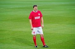 Fósforo dos veteranos da equipa nacional de FC Dnipro e de URSS Imagem de Stock