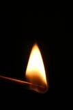 Fósforo flamejante fotografia de stock