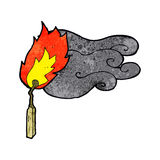 fósforo flamejante dos desenhos animados Imagens de Stock Royalty Free