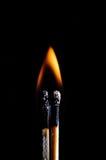 Fósforo inflamado e fósforo purgado Fotos de Stock Royalty Free