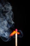Fósforo inflamado e fósforo purgado Imagem de Stock Royalty Free