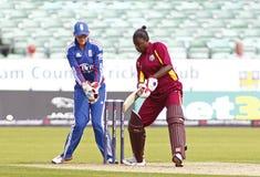 Fósforo internacional do grilo do T20 das mulheres das Índias Ocidentais de Inglaterra v Fotografia de Stock Royalty Free