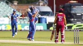 Fósforo internacional do grilo do T20 das mulheres das Índias Ocidentais de Inglaterra v Fotografia de Stock