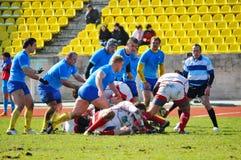 Fósforo Rússia - Ucrânia do rugby em Sochi Imagem de Stock Royalty Free