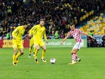 Fósforo Ucrânia do campeonato do mundo 2018 de FIFA - Croácia Foto de Stock
