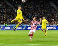 Fósforo Ucrânia do campeonato do mundo 2018 de FIFA - Croácia Imagem de Stock Royalty Free