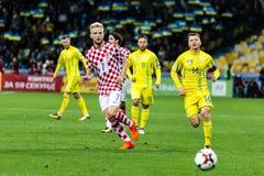 Fósforo Ucrânia do campeonato do mundo 2018 de FIFA - Croácia Fotos de Stock