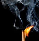 Fósforos ardentes Imagens de Stock Royalty Free