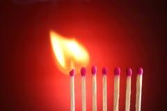 Fósforos ardentes Foto de Stock