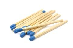 Fósforos azuis fotografia de stock