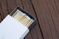 Fósforos brancos Fotografia de Stock