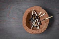 Fósforos de madeira queimados Fotos de Stock Royalty Free