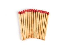 Fósforos isolados Imagem de Stock