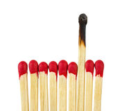 Fósforos - liderança ou conceito da inspiração Imagens de Stock
