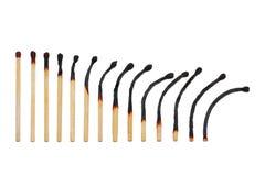 Fósforos queimados Foto de Stock
