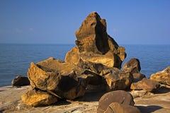 Fósseis antigos em Kutch, Fotos de Stock Royalty Free