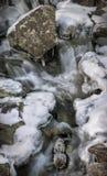 Fósseis em uma cachoeira congelada Fotos de Stock
