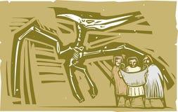 Fóssil do pterodátilo dos Paleontologists Imagem de Stock Royalty Free