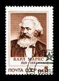 170. födelseårsdag av Karl Marx (1818-1883), serie, circa 1 Royaltyfri Foto