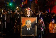 109. födelseårsdag av Stepan Bandera i Kyiv Royaltyfria Bilder