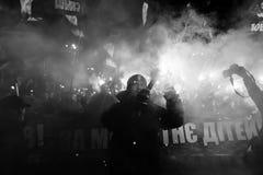 109. födelseårsdag av Stepan Bandera i Kyiv Royaltyfri Fotografi