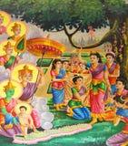 Födelse av Buddha Arkivfoton