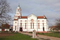 Födelse av den jungfruliga Mary Church i staden av Pavel Bania Banya Fotografering för Bildbyråer