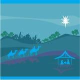 Födelse av Jesus i Betlehem. Arkivbild