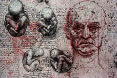 Födelse och död Arkivbilder