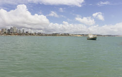 Födelse- Ponta Negra strand, RN, Brasilien royaltyfria foton